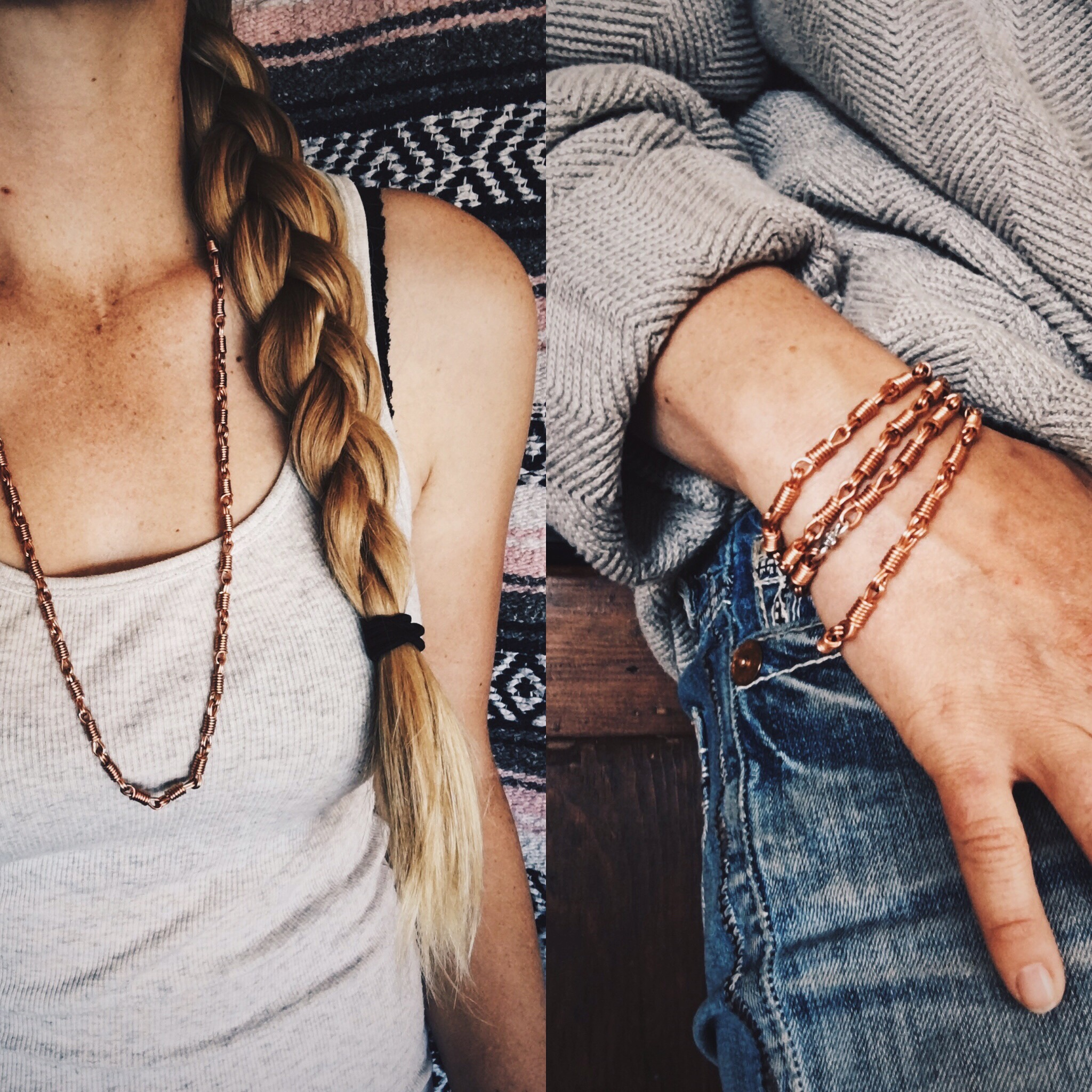 Ceily Rae Photography & Design Products Copper Rein Chain Necklace/ Bracelet